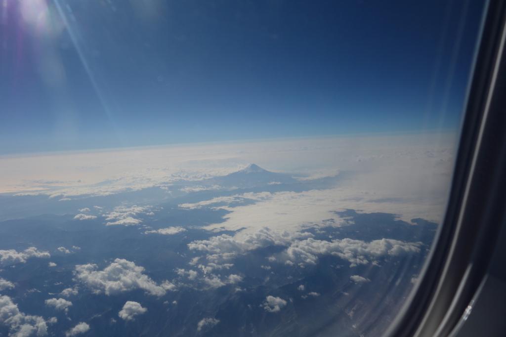 ANA732便から見た朝の富士山(平成30年1月23日)