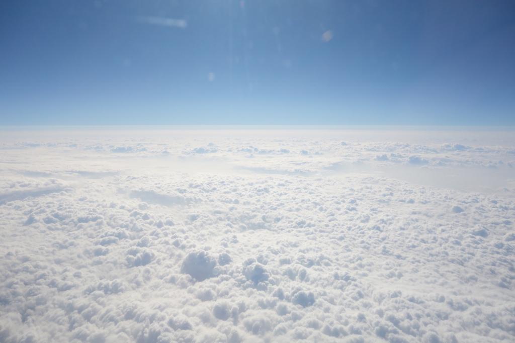 ANA732便から見たモコモコの雲海(平成30年1月23日)