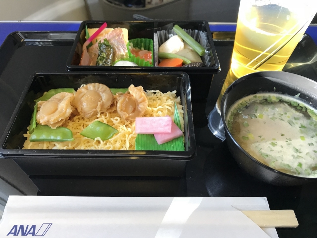 ANA732便のPremium GOZEN(平成30年2月5日)