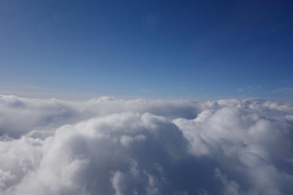 ANA732便から見たデコボコの雲海(平成30年2月5日)