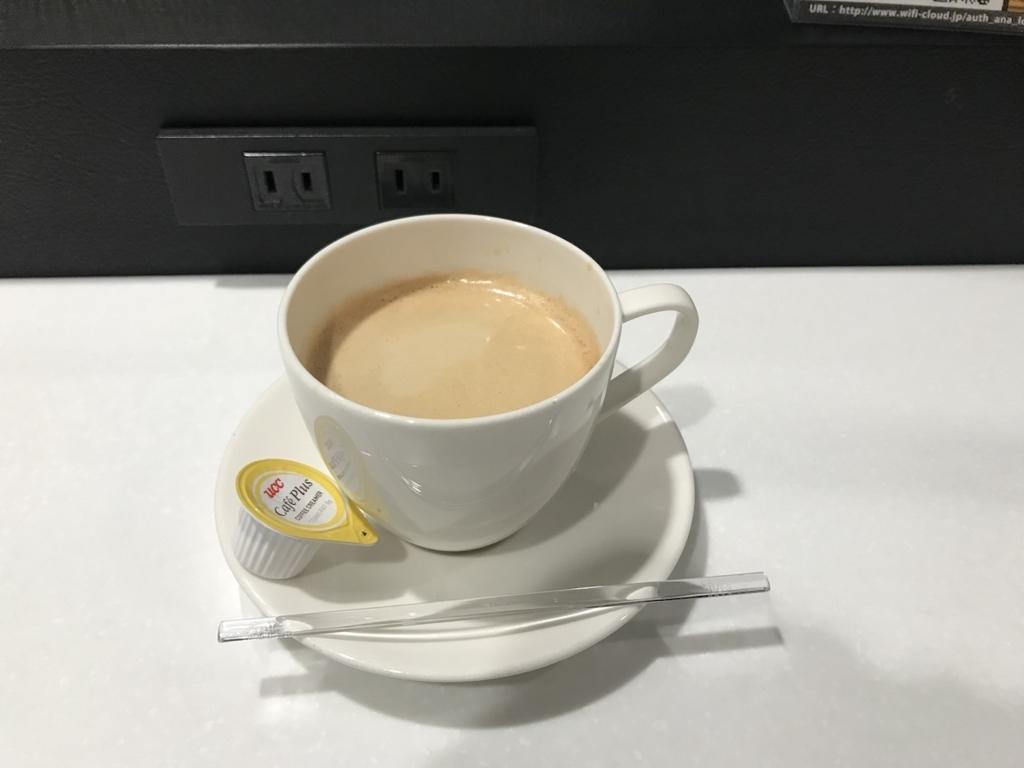 仙台国際空港のANAラウンジでのコーヒー(平成30年2月21日)