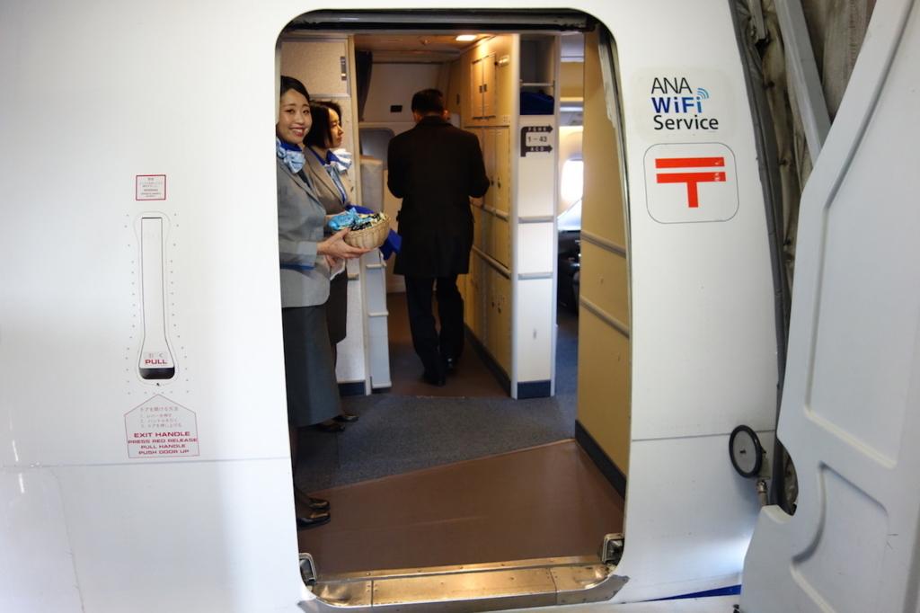 ANA732便へ搭乗(平成30年2月21日)