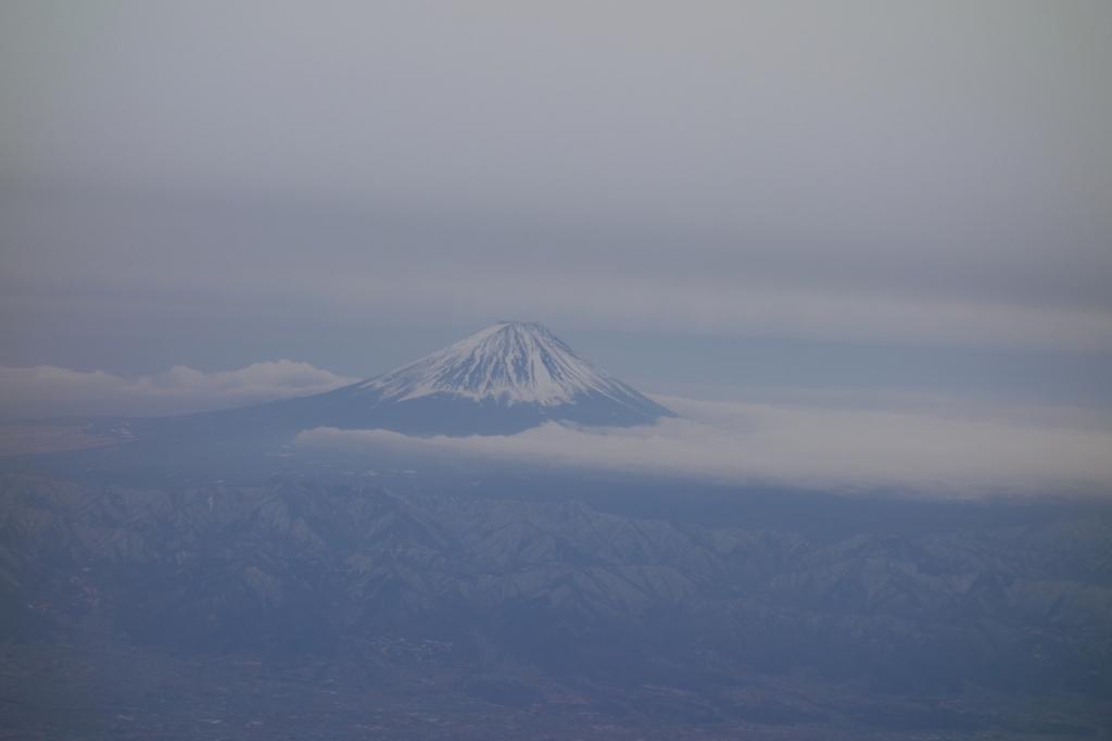 ANA732便から見た朝の富士山(平成30年2月21日)