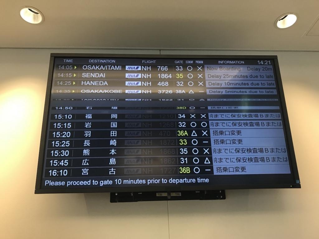 那覇空港のANAラウンジ(平成30年2月21日)