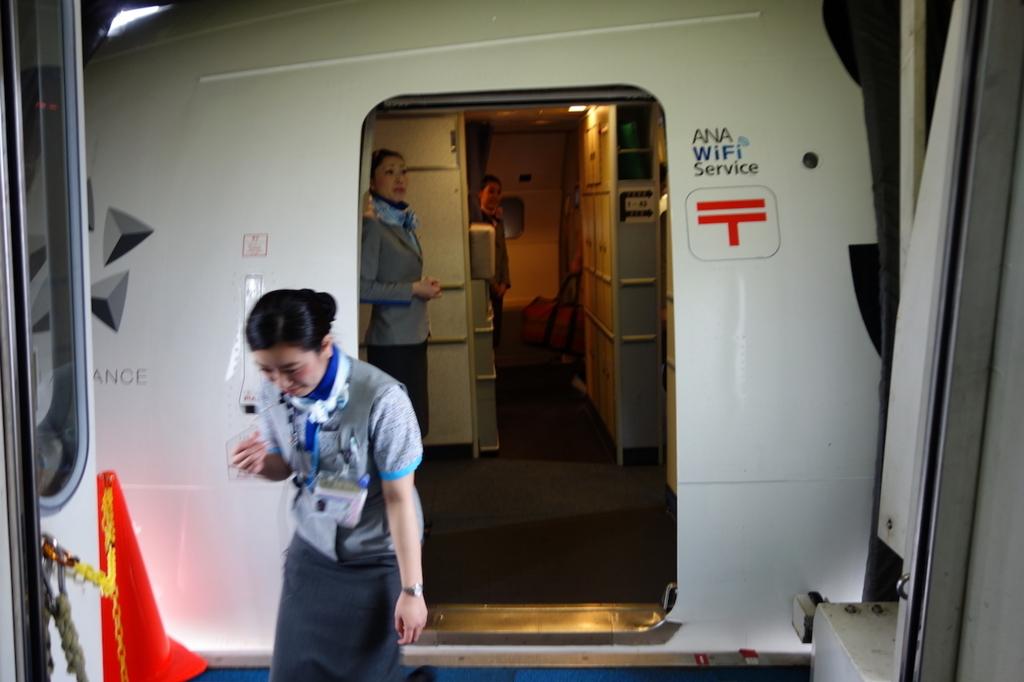 ANA1864便へ搭乗(平成30年2月21日)