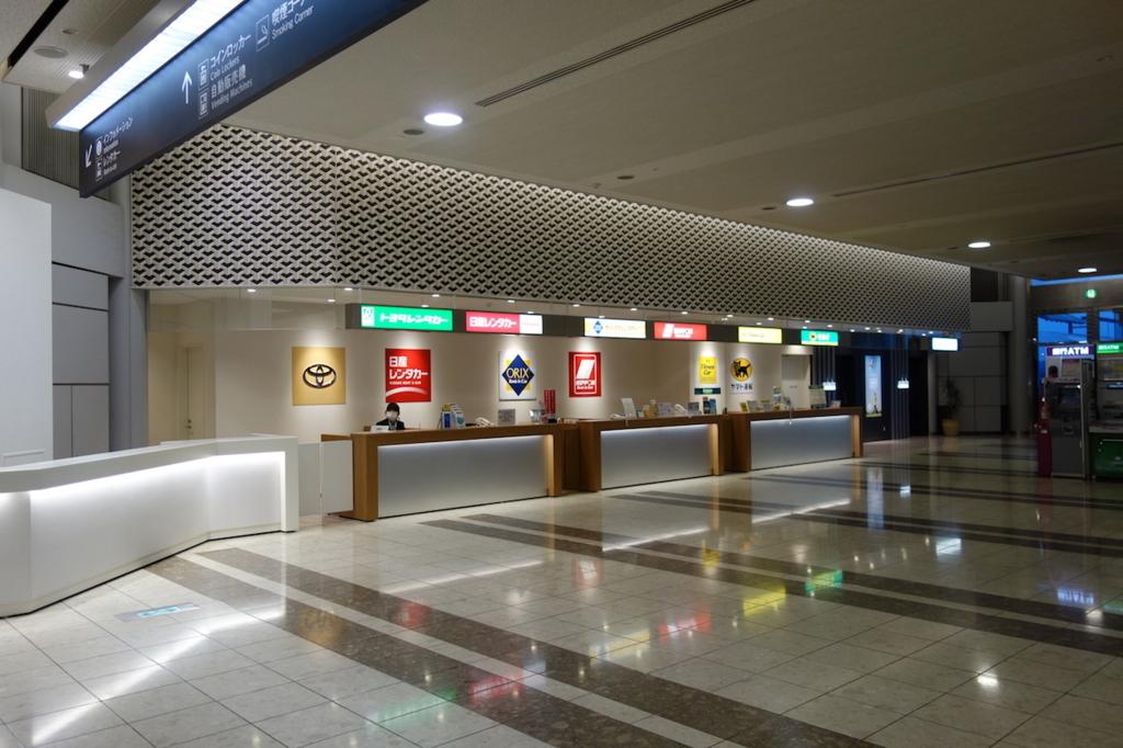 仙台国際空港のレンタカー・宅配便カウンター