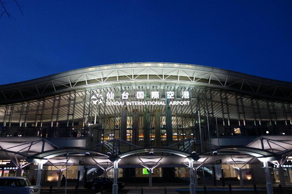 夕暮れ時の仙台国際空港(平成30年3月1日)