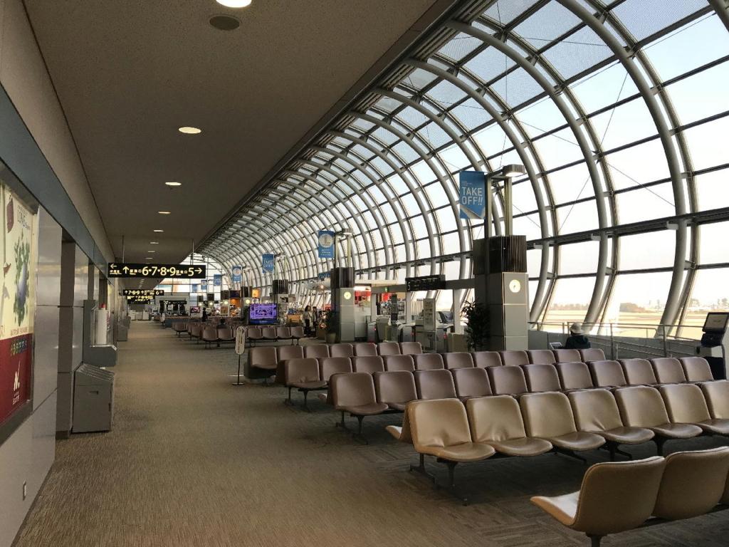 仙台国際空港での制限区域内の様子(平成30年3月27日)