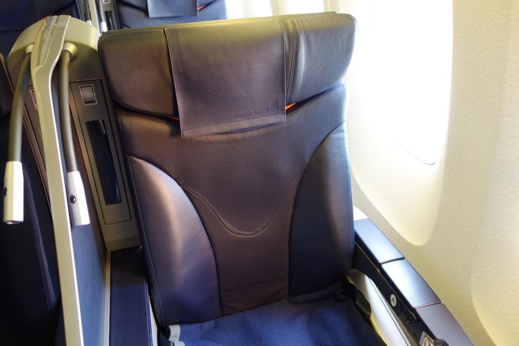ANA732便のプレミアムクラスシート1A(平成30年3月27日)