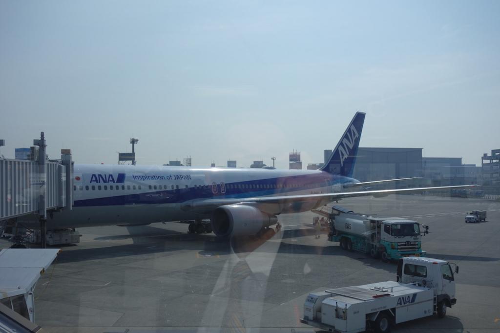 大阪国際空港に到着したANA732便(平成30年3月27日)