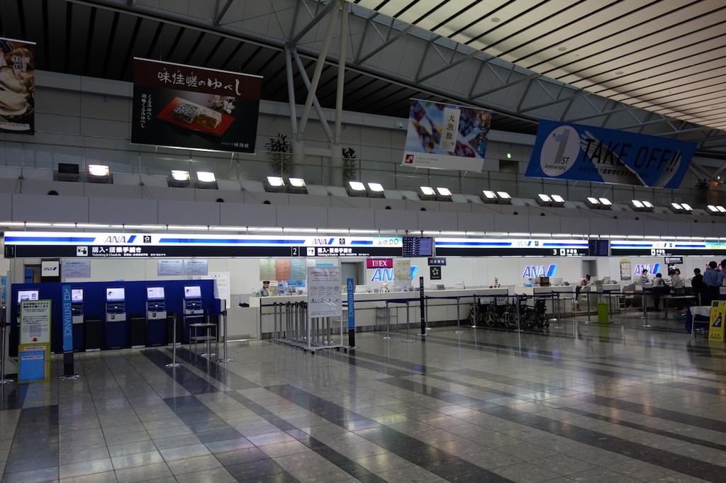 仙台国際空港ターミナルビル2階のANAカウンター