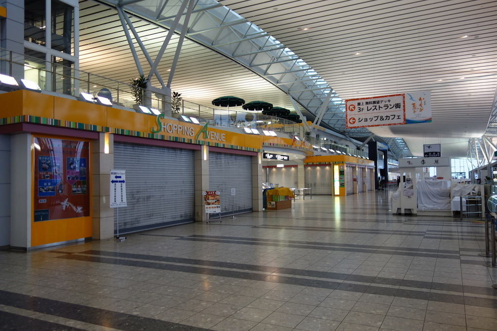仙台国際空港ターミナルビル2階のショッピングアベニュー(平成30年4月25日)
