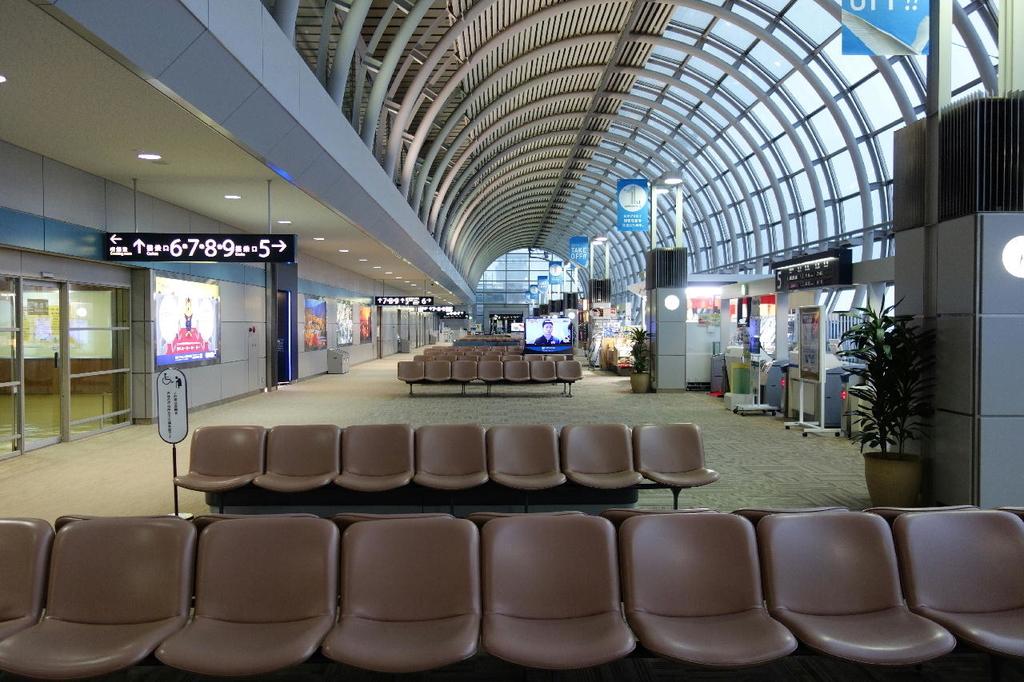 仙台国際空港での制限区域内JAL側の様子(平成30年4月25日)
