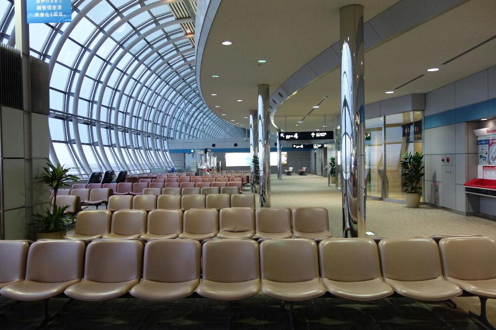 仙台国際空港での制限区域内ANA側の様子(平成30年4月25日)