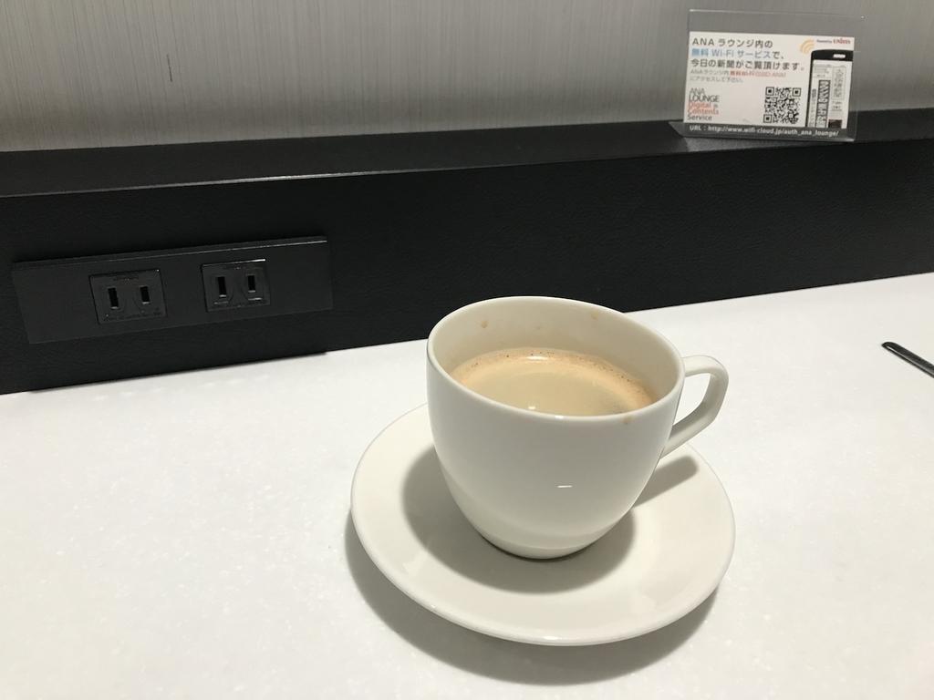 仙台国際空港のANAラウンジでのコーヒー(平成30年4月25日)