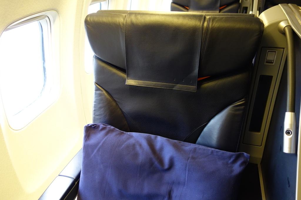 ANA732便のプレミアムクラスシート1K(平成30年4月25日)
