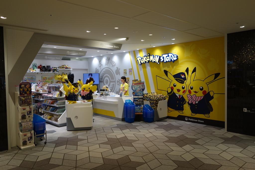 大阪国際空港中央ブロック2Fのポケモンストア(平成30年4月25日)