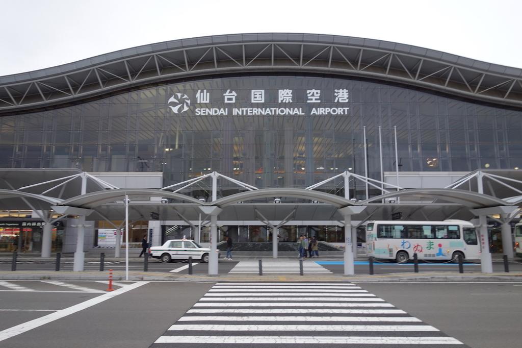 夕暮れ時の仙台国際空港(平成30年4月25日)