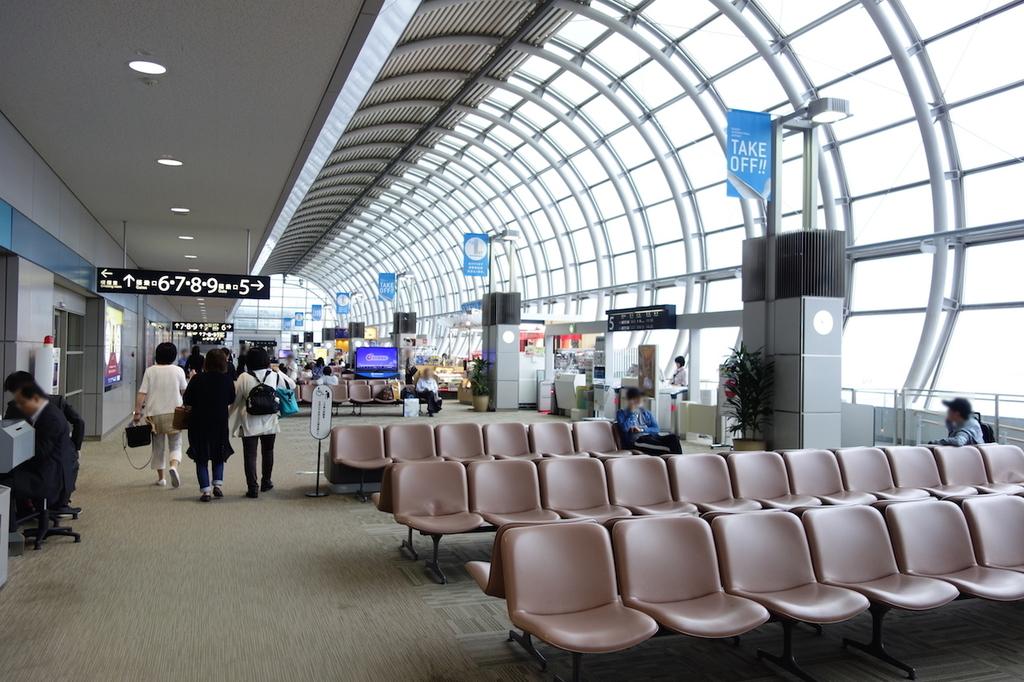 仙台国際空港での制限区域内(平成30年6月11日)