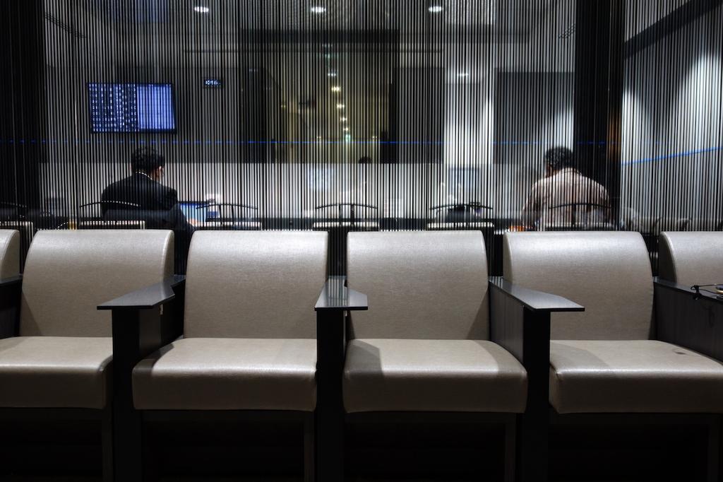 仙台国際空港のANAラウンジ 中央部椅子席(平成30年6月11日)