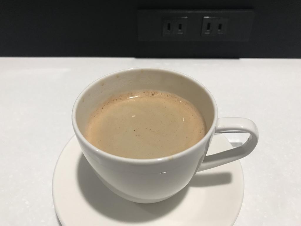 仙台国際空港のANAラウンジでのコーヒー(平成30年6月11日)