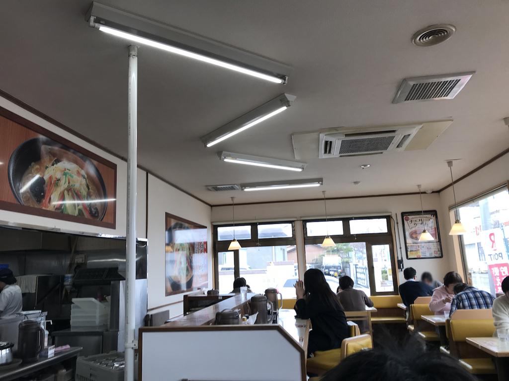 仙台市太白区柳生にある幸楽苑柳生店の店内