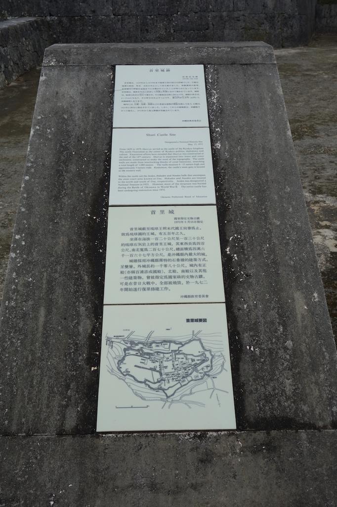 首里城公園に設置される首里城跡に関する説明