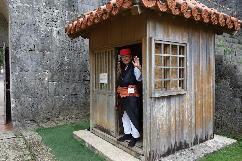 首里城公園の歓会門裏に設置される案内所
