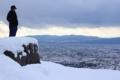 京都新聞写真コンテスト 雪山から望む