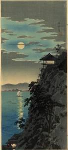 高橋松亭-石山之月