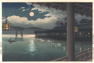 土屋光逸-夏の月宮島
