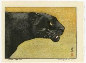 吉田遠志-黒ヒョウ Black panther