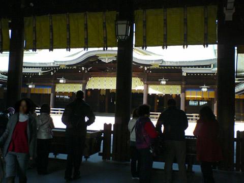 明治神宮の御社殿の中