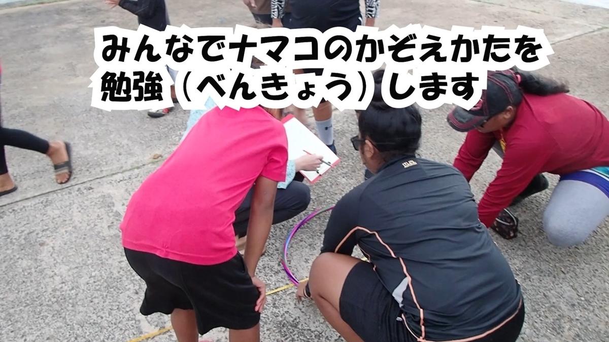 ナマコの調査の様子をまとめたビデオ