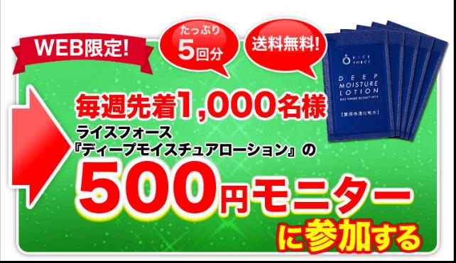 500円モニター募集中