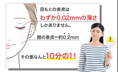 エッセンスプレミアムシートは目元の薄い皮膚をカバー
