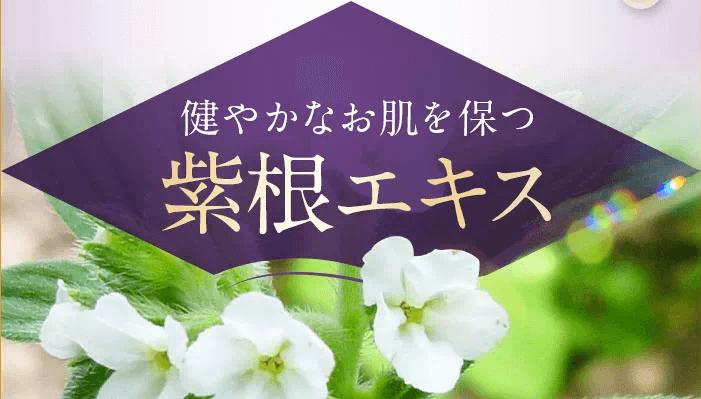 シロクナーレは紫根エキス配合
