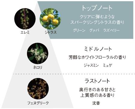 B.Aディープクリアライザーは3つの香り