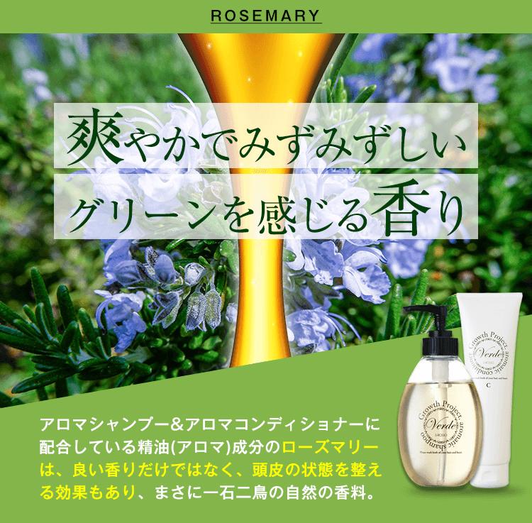 ヴェルデアロマシャンプーはグリーンの香り