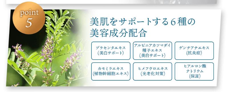 ブレイター薬用UV美容液は6種の美容成分配合