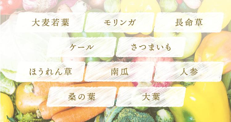 ベジ・ボーテには10種類の国産野菜