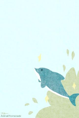 個別イラスト携帯待受イルカ夏の日の光景ブルー携帯待受