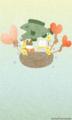[イラスト][携帯待受][魚][クマ][ハート][風船]「サンタくまちゃんとしろくまちゃん」240x400