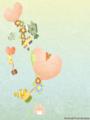 [イラスト][携帯待受][魚][マンボウ][ヒトデ][カクレクマノミ][イソギンチャク][ハート][風船]「ウオウオタウンの仲間達」240x320