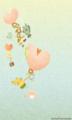 [イラスト][携帯待受][魚][マンボウ][ヒトデ][カクレクマノミ][イソギンチャク][ハート][風船]「ウオウオタウンの仲間達」240x400