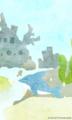 [イラスト][携帯待受][魚][イルカ]4.「ウオウオタウン・バリエーション(くブルー&いるちゃん)」240x400