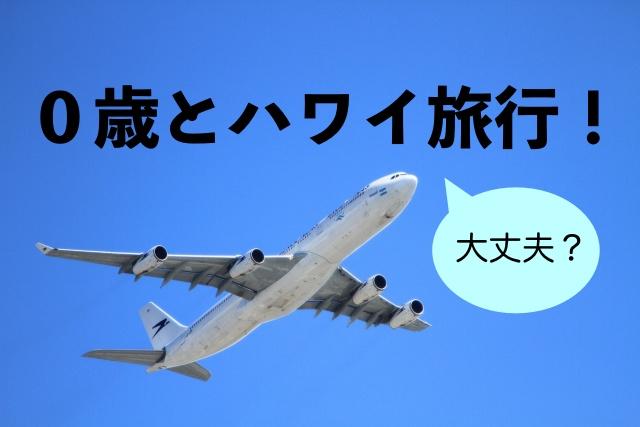 0歳とハワイ旅行 飛行機