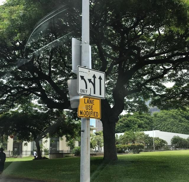 ハワイの道路標識