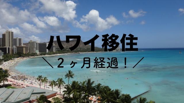 ハワイ移住 2ヶ月