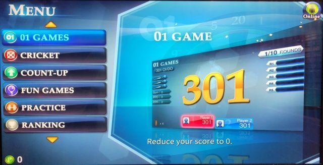 FIDODARTSの操作画面、対応ゲーム